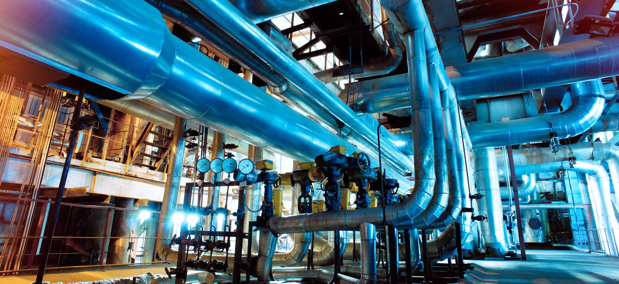 Industrial,Zone,,Steel,Pipelines,,Valves,And,Ladders
